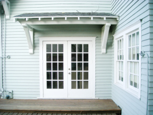 The owners requested that I build these French doors to allow easy access to the yard.